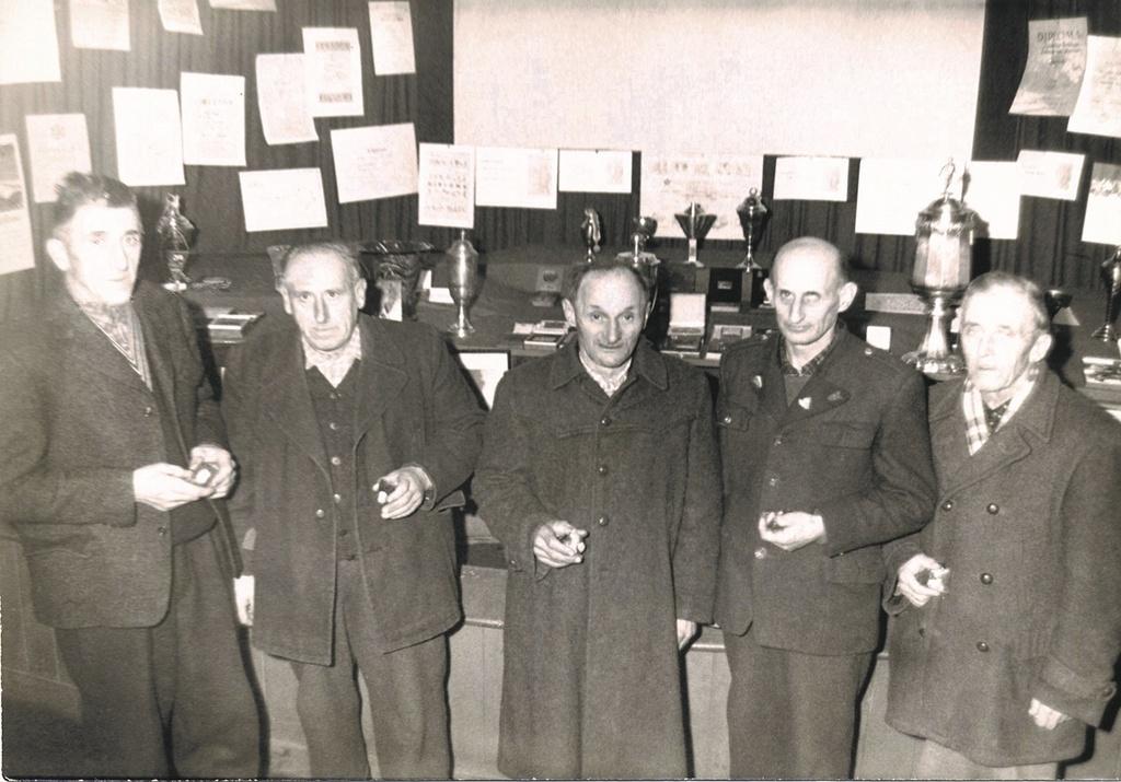 Ustanovitelji društva: Janez Kerštanj, Franc Žerjav, Franc Tof, Maks Juvan in Jože Petrič