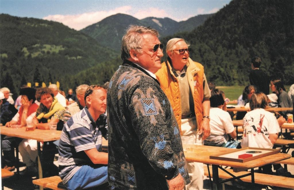Leta 1997 v Planici: Peter Dremelj, Janez Gorišek, Vojteh Budinek